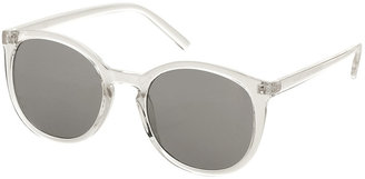 Topshop Preppy Clear Round Sunglasses