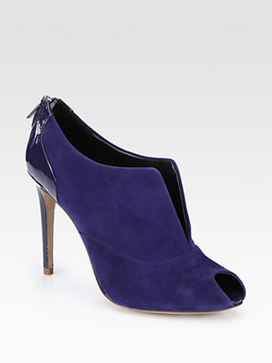 Elie Tahari Orla Suede & Patent Leather Ankle Boots