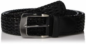 Stacy Adams Men's 32mm Hand Woven Leather Belt