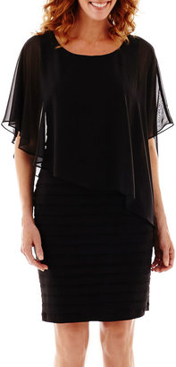 Scarlett Elbow-Sleeve Cape Dress $90 thestylecure.com