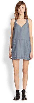 Autograph Addison Chambray T-Back Dress