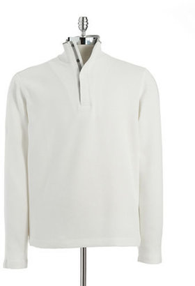 HUGO BOSS Long Sleeve Sweatshirt with Stand Up Collar