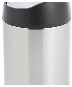 simplehuman ® Brushed Stainless Steel Countertop Trash Can