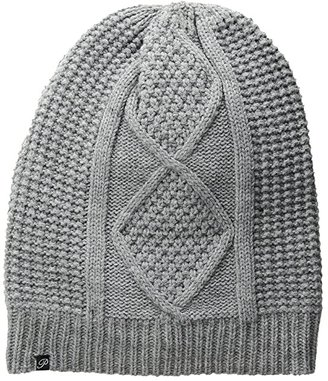 Plush Fleece-Lined Cable Knit Beanie (Heather Grey) Beanies