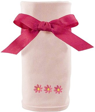 Princess Linens Cotton Knit Blanket with Embroidered - Daisy Motif