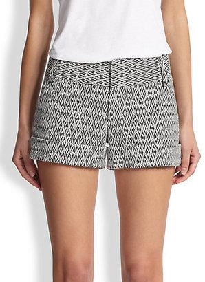 Alice + Olivia Caddy Printed Cuff Shorts