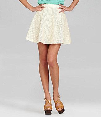 Gianni Bini Bailey Faux-Leather Skirt