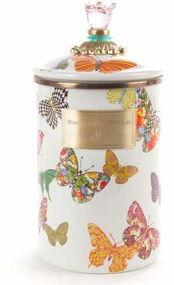 Mackenzie Childs MacKenzie-Childs Large Butterfly Garden Canister