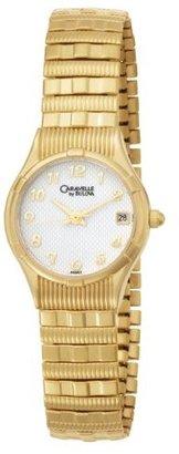Bulova Caravelle by Women's 44M01 Expansion Bracelet White Dial Watch