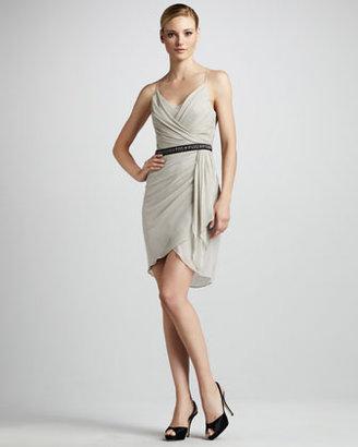 Vera Wang Side-Drape Cocktail Dress