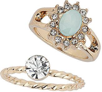 Topshop Rhinestone Ring Pack