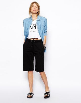 Asos Longline Sweat Boy Shorts