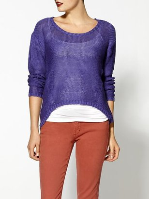RD Style Round Neck Hi-Low Sweater