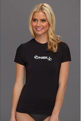 O'Neill Basic Skins S/S Rash Tee (Black) Women's Swimwear