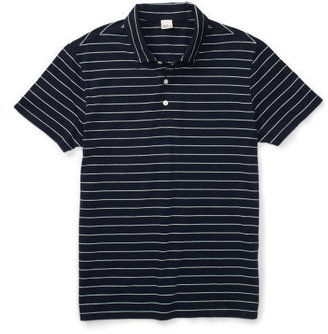 Club Monaco Pin-Stripe Jersey Polo