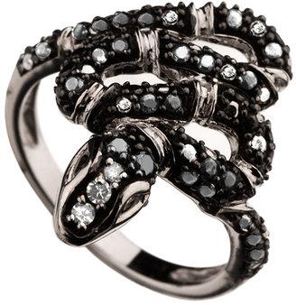 Mystic Light Twisted Snake Diamond Pave Ring