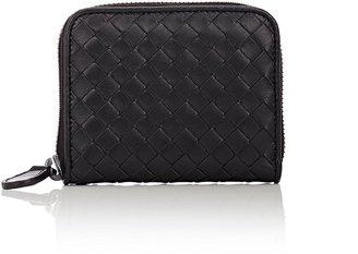 Bottega Veneta Women's Intrecciato Zip-Around Wallet $410 thestylecure.com
