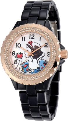 DISNEY Disney Womens Snow White Rose-Tone Black Enamel Watch $59.99 thestylecure.com