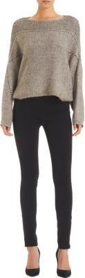 Helmut Lang Raglan-Sleeve Cropped Sweater