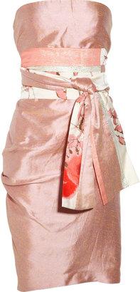Ports 1961 Silk and linen-blend dress