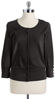 Vince Camuto Button-Front Ribbed Cardigan Sweater