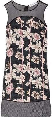 Elizabeth and James Klaus floral-print silk and mesh dress