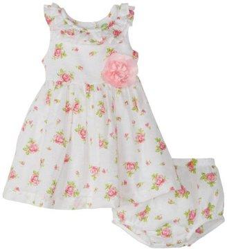 Little Me Baby-Girls Newborn Sweet Rose Woven Dress Set