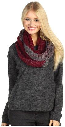 Roxy Twisted Crochet Knit Scarf (Fireside) - Accessories