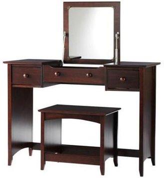 Home Decorators Collection Hawthorne 44 in. W Dark Cherry Vanity with Folding Mirror