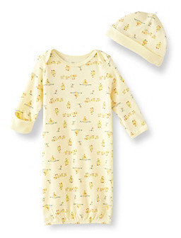 Little Me Baby Yellow Duck Gown Set