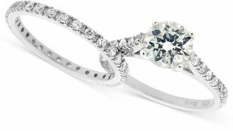 Giani Bernini Sterling Silver Ring Set, Cubic Zirconia Wedding Band and Engagement Ring Set in Sterling Silver or 18k Gold over Sterling Silver (1-3/4 ct. t.w.), Created for Macy's