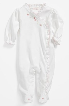 Kissy Kissy Footie (Baby Girls) White/ Pink Emroidery 3-6M