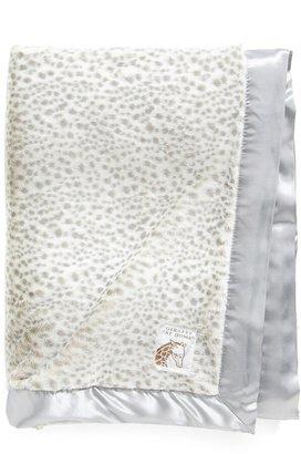 Giraffe at Home Luxe Snow Leopard Faux Fur Throw