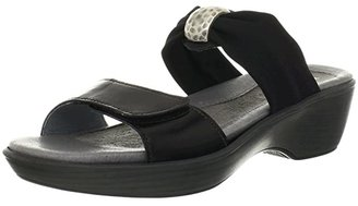 Naot Footwear Pinotage (Black Madras Leather/Black Stretch) Women's Sandals