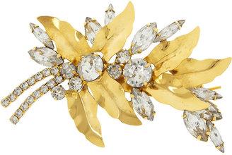Jennifer Behr Aspen gold-tone Swarovski crystal hairclip