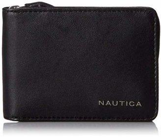 Nautica Men's Leather Slim Zip Wallet