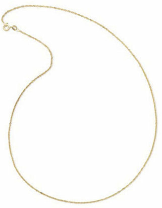 PRIVATE BRAND FINE JEWELRY Made In Italy 14K Yellow Gold 18 Singapore Chain Necklace