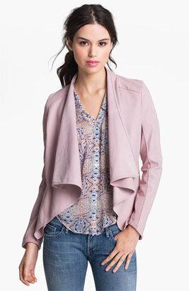 La Marque Drape Collar Leather Jacket Large