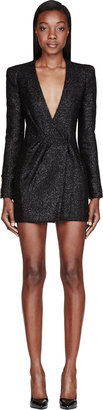 Balmain Black Tinsel Mini Dress