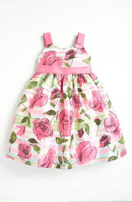 Pippa & Julie Rose Print Dress (Toddler)
