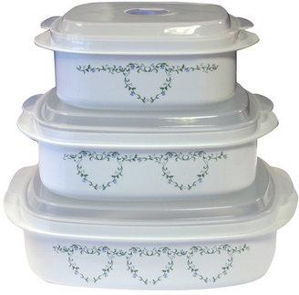 Corelle Livingware Memphis 6 Piece Microwave Cookware & Storage Set IV