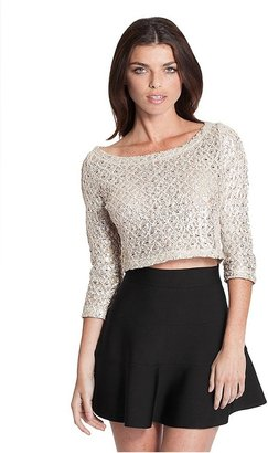 GUESS Cropped Foil Pullover
