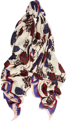 Marc by Marc Jacobs Mareika Tulip printed modal and cashmere-blend scarf