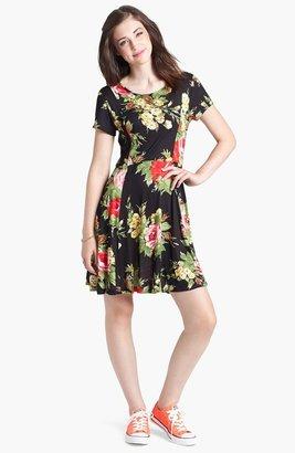 Minty Cap Sleeve Skater Dress (Juniors)
