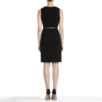 Jones New York Black Sheath Dress with Crew Neck (Plus)