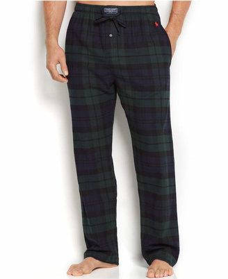 Polo Ralph Lauren Men's Plaid Flannel Pajama Pants $38 thestylecure.com