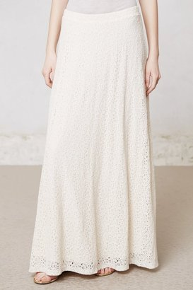 Anthropologie Hydrangea Lace Maxi