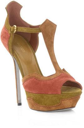 Sergio Rossi Empire tri-colour sandals