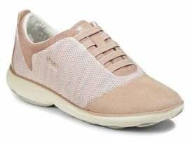 Geox Mesh Leather Sneakers