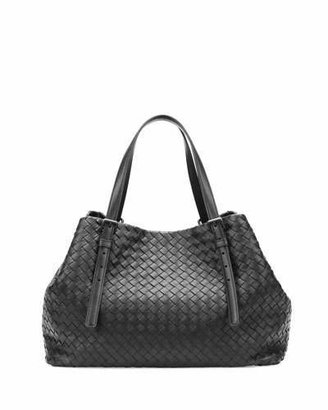 Bottega Veneta A-Shape Woven Tote Bag, Black $3,350 thestylecure.com